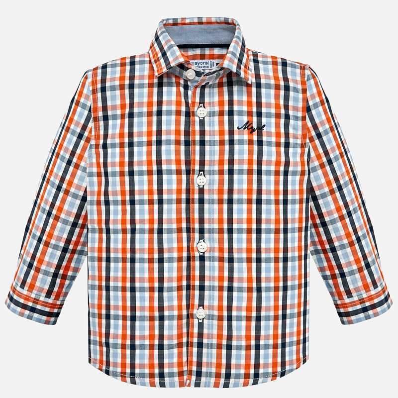 8fdb17406c99 Long sleeved checked shirt for baby boy Passion fruit - Mayoral