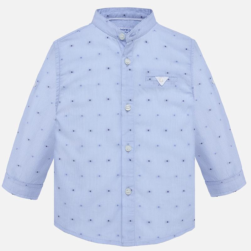 680eeb646 Long sleeved shirt with mandarin collar for baby boy Lavender - Mayoral