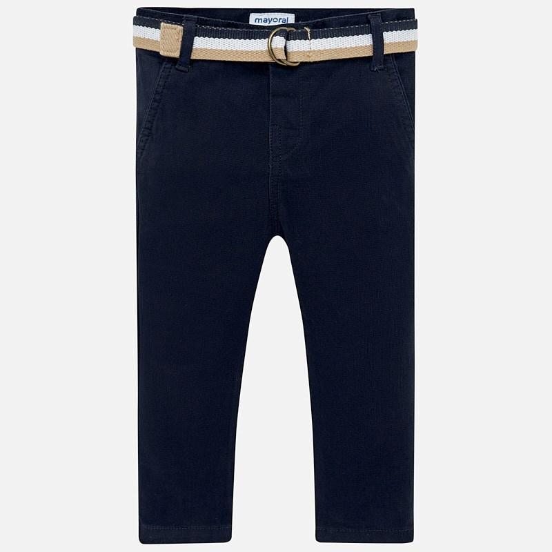 ab8a7be1c2d Παντελόνι λοξότσεπο πικέ με ζώνη Ναυτικό μπλε - Mayoral