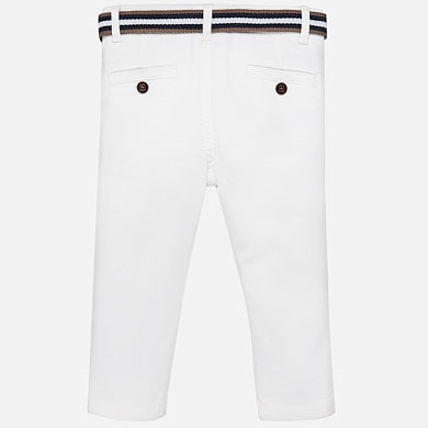 3f641199 Pique chino trousers with belt White - Mayoral