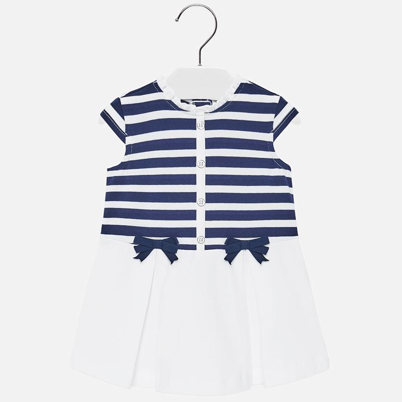 ac2974c2bbe8 Vestito a righe gonna bambina Blu marino-Bianco - Mayoral