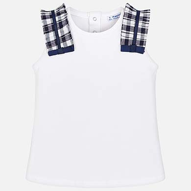prezzo moderato qualità del marchio Acquista autentico Maglietta bretelle vichy bambina Blu Navy - Mayoral