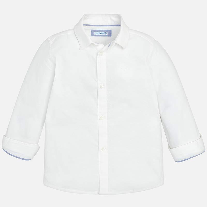Πουκάμισο μακρυμάνικο βασικό Λευκό - Mayoral 044641e29c5