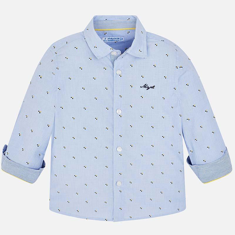 3dc4d4712c Camisa manga comprida estampada menino Lavanda - Mayoral