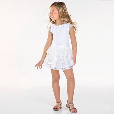 46cec33765328c Dressy skirt with ruffles for girl