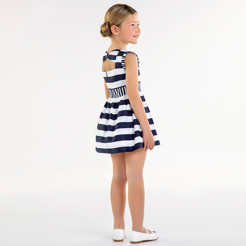 245f37a33d67 Φόρεμα σατέν ριγέ Ναυτικό μπλε - Mayoral