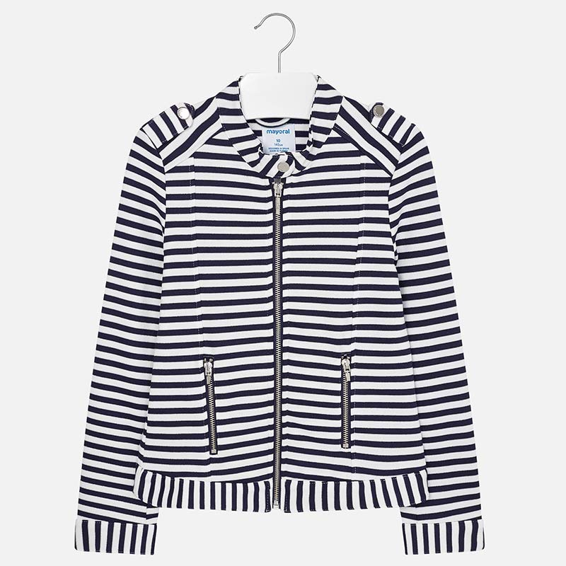 e877fab76c Striped knit jacket for girl Navy blue - Mayoral