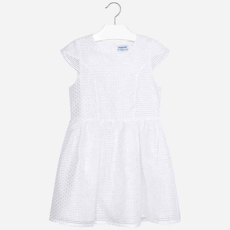 dd370b847549 Jacquard dress for girl White - Mayoral