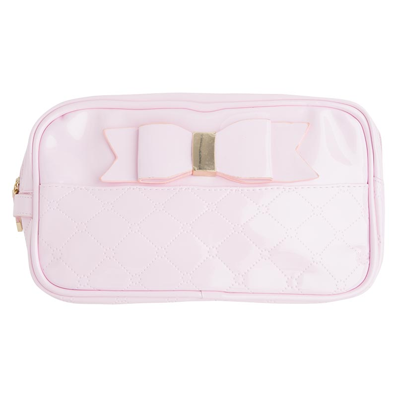 Patent leather toiletry bag