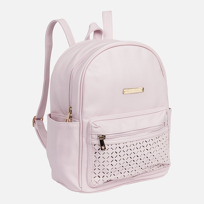 Openwork detailed backpack Baby Pink - Mayoral 7f1ecdd1dd924