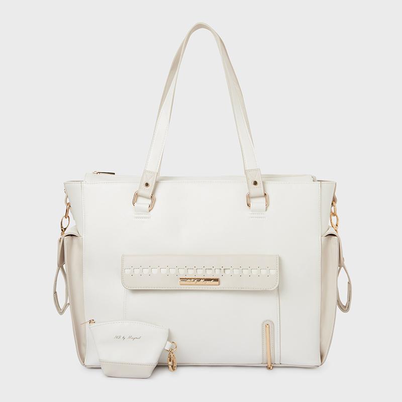 Τσάντα με θήκη για πιπίλα Εκρού - Mayoral 6b1921e57e4