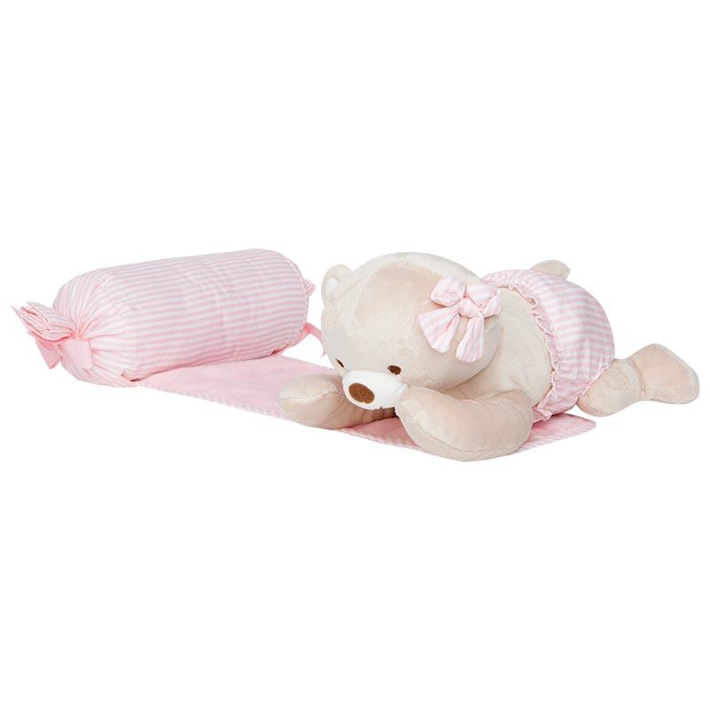 Cojín de bebé antivuelco con peluche Rosa Baby - Mayoral