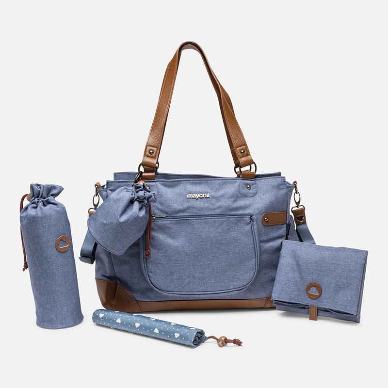 Bolso para bebé con accesorios Azul - Mayoral