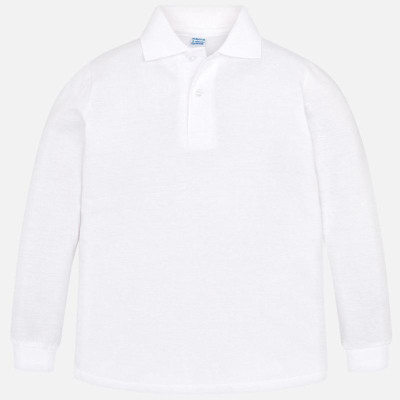 a3e78c3c0 Long sleeved school polo shirt White - Mayoral