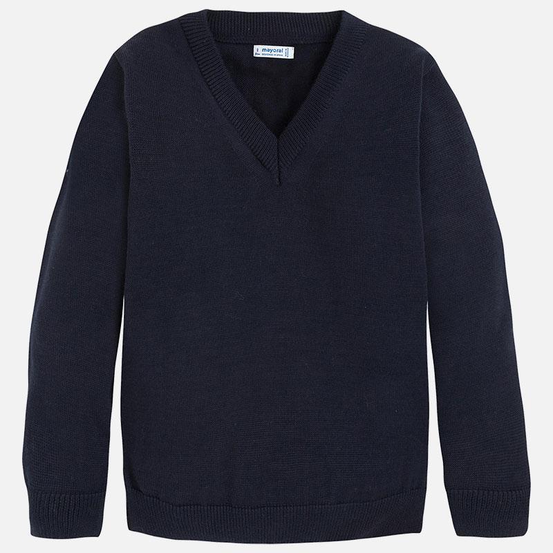 b158702582 Sweter z dekoltem w serek Granatowy - Mayoral