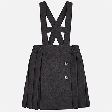MAYORAL GREY PLEATED PINAFORE DRESS