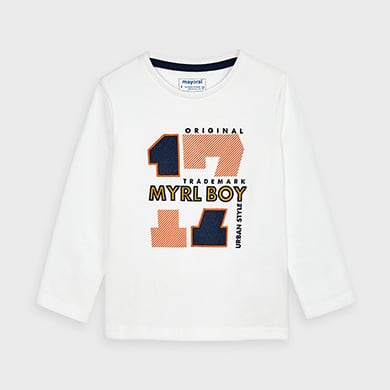 Camiseta Manga Larga Bebe Niño Color MarinoALM-29080/_MARINOStreet Monkey