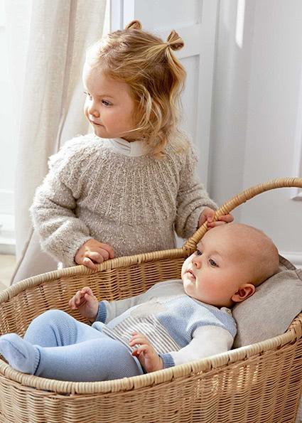 ECOFRIENDS tricot leg warmer set Newborn boy Sky