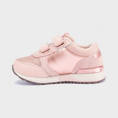 Glitter trainers for baby girl Pink