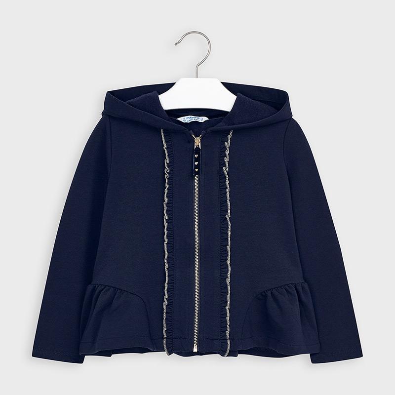 Hooded sweatshirt for girl Navy blue | Mayoral