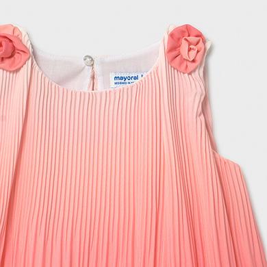 Kleid Plissee Farbabstufung Baby Mädchen Koralle | Mayoral
