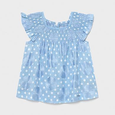 1.943 dunkelblau Mayoral M/ädchen Sommer Baby Kleid gestreift