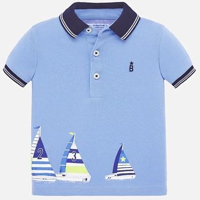Mayoral Jungen Poloshirt Kurzarm Segelboote T-Shirt