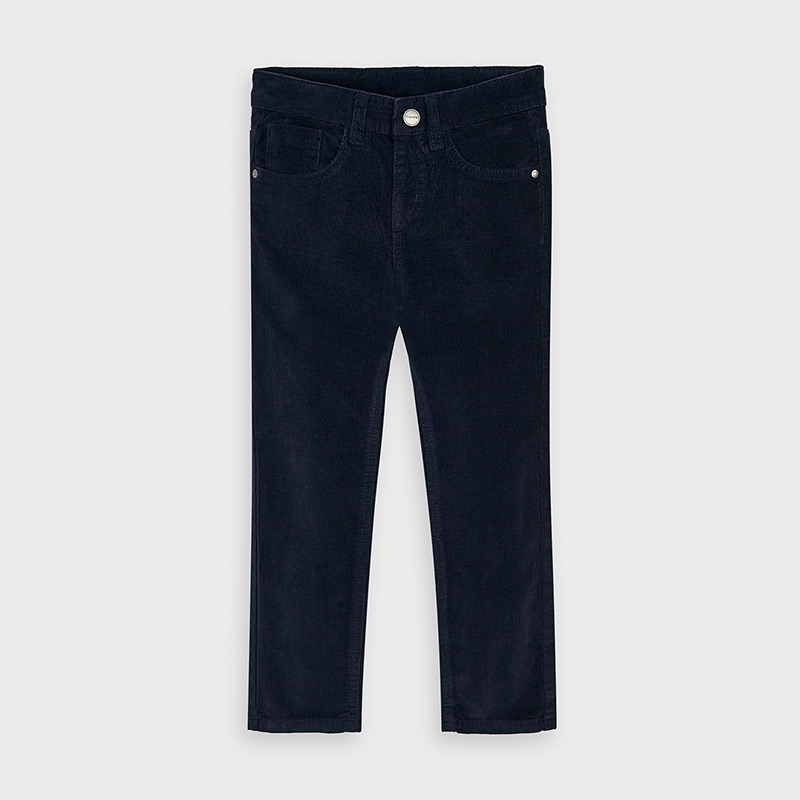 3 Mayoral Boy Long Dark Denim Trousers, 4505