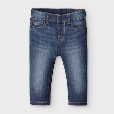 NWT Mayoral Baby Boys Sizes 6 /& 9 months Blue Denim Pants #2553