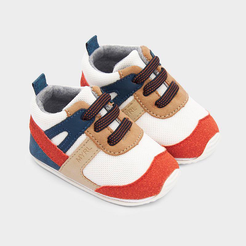 Multi-coloured trainers for newborn boy