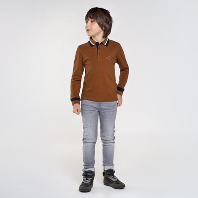 Jersey algodón básico cuello pico chico Gris grind | Mayoral ®