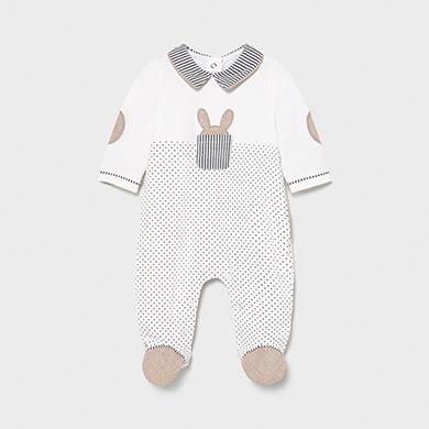 Mayoral Pijama Combinado Recien Nacido Bebe Ni/ña Gris