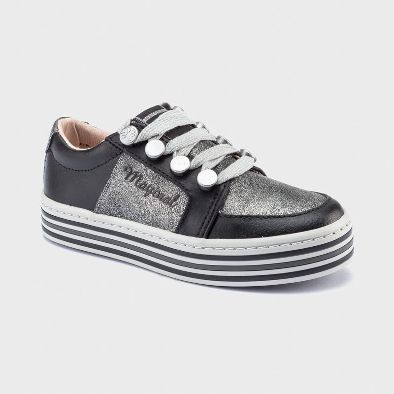 Platform sporty trainers for girl Black
