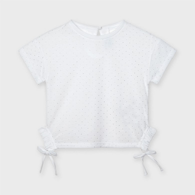 Mayoral 7078 T-shirt /à manches longues avec n/œud pour fille