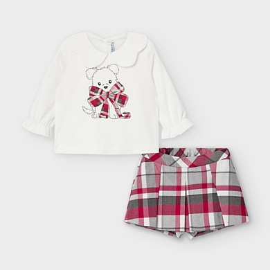 01235-030 Mayoral Infant Girl Bermuda Shorts Set Aged 18,24,36Mnths