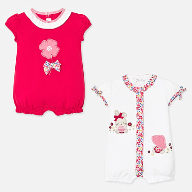 1761 Long Pajama Dress for Baby-Girls Mayoral Red