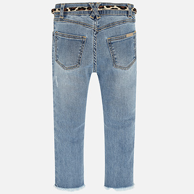Skinny fit fantasy jeans for girl Bleached | Mayoral