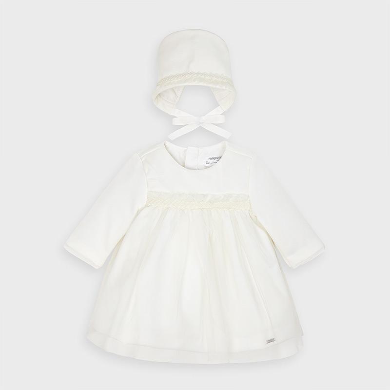 Sukienka dla noworodka dziewczynki Ecru