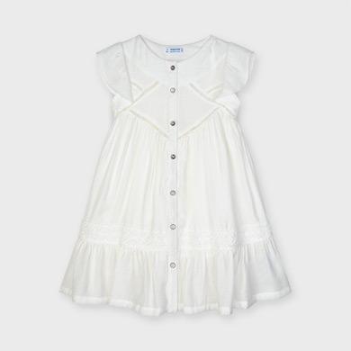 Mayoral 4975 Vestito invernale in chiffon a forma di cuore da bambina